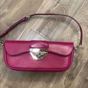 Louis Vuitton Montaigne clutch purple
